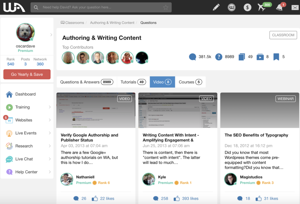 authoring and writing content classroom