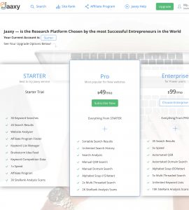 The jaaxy Keyword Research Tool Review (Jaaxy pricing)