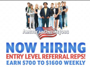 American online jobs scam
