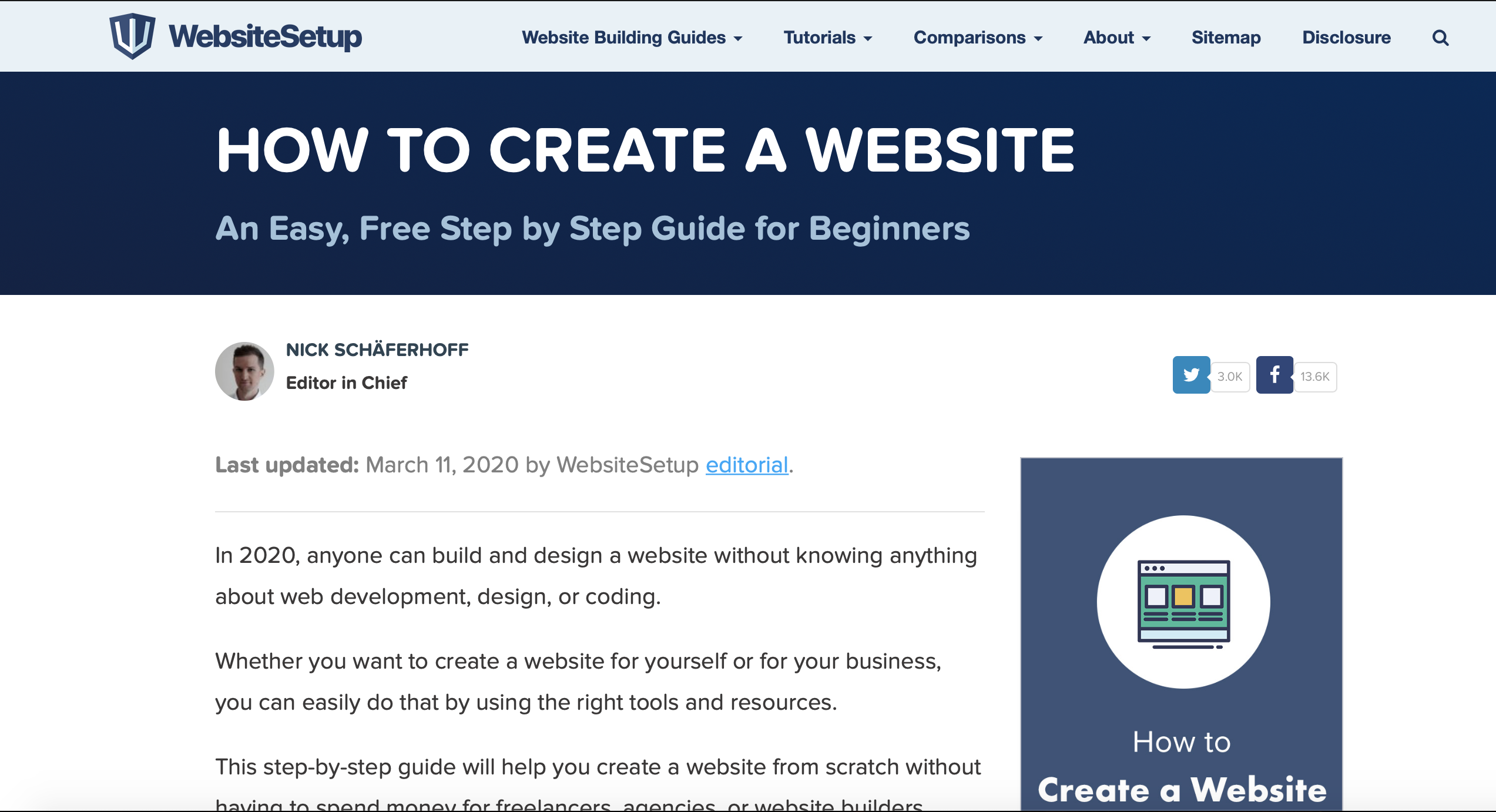 websitesetup affiliate website