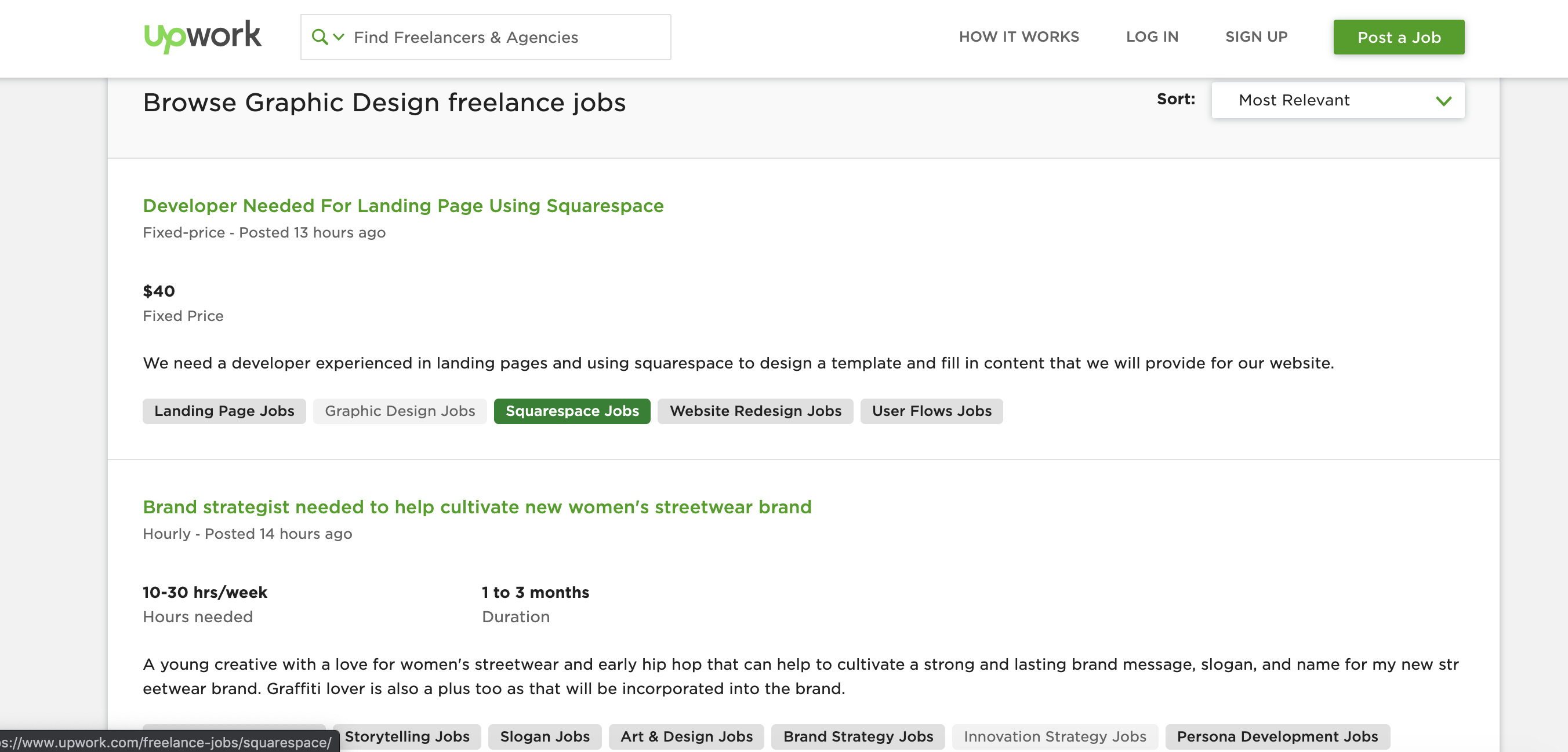 graphic design jobs on upwork