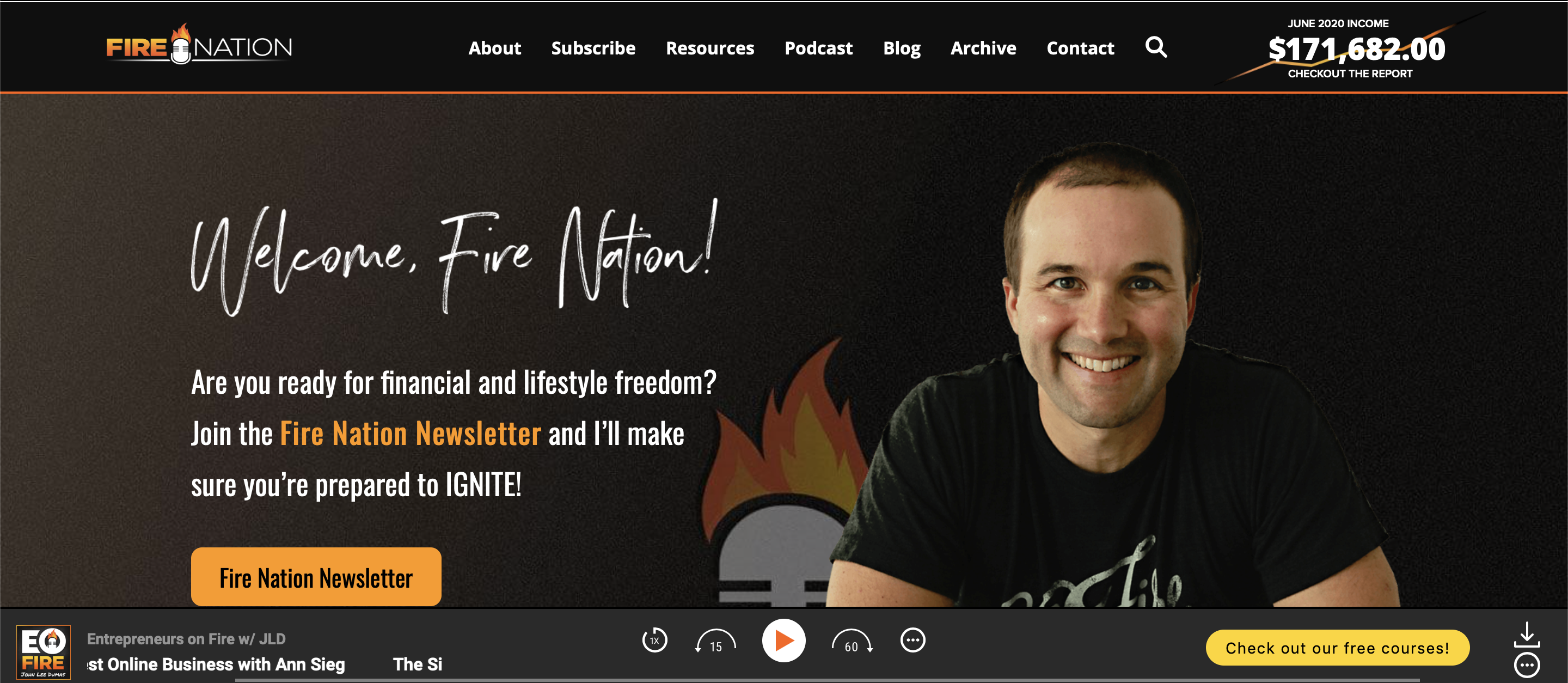 Entrepreneurs on fire website