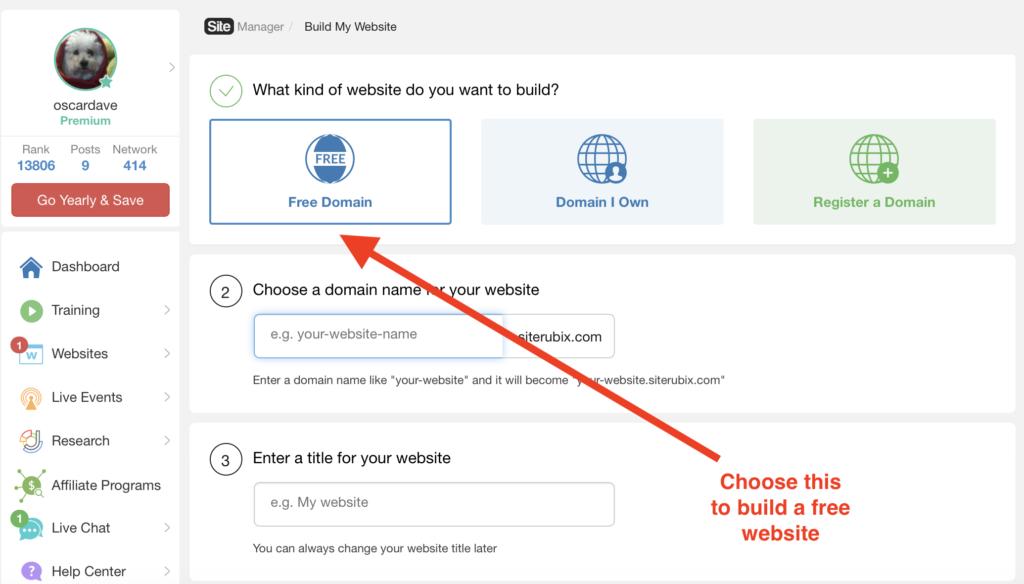 free websites with siterubix