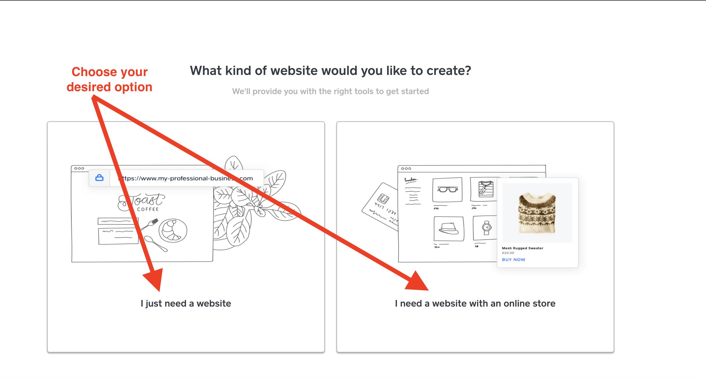 online store or website