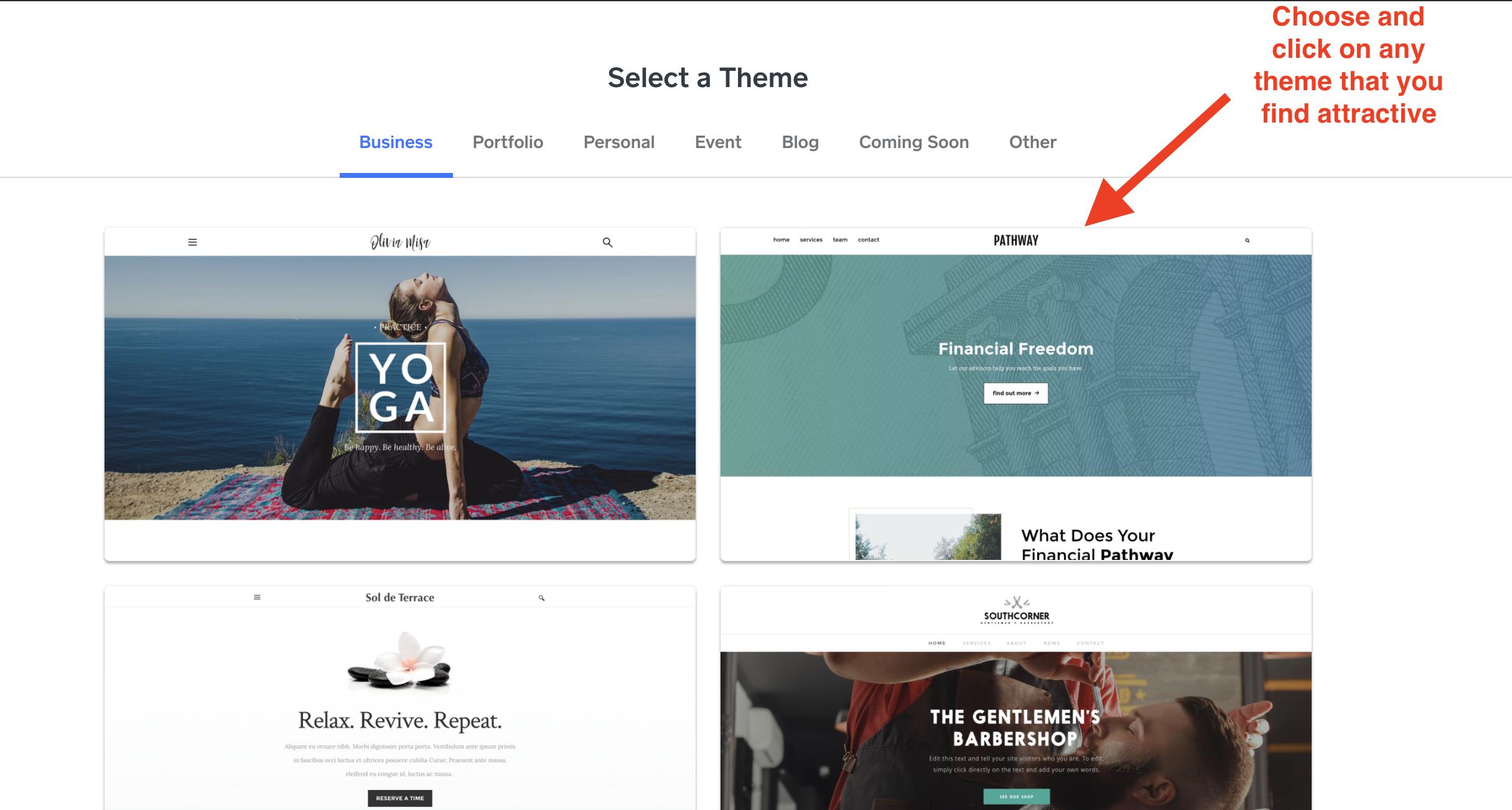 choosing your website theme