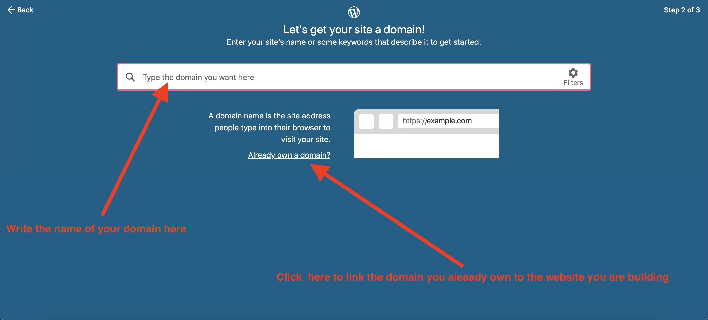 choosing wordpress domain name