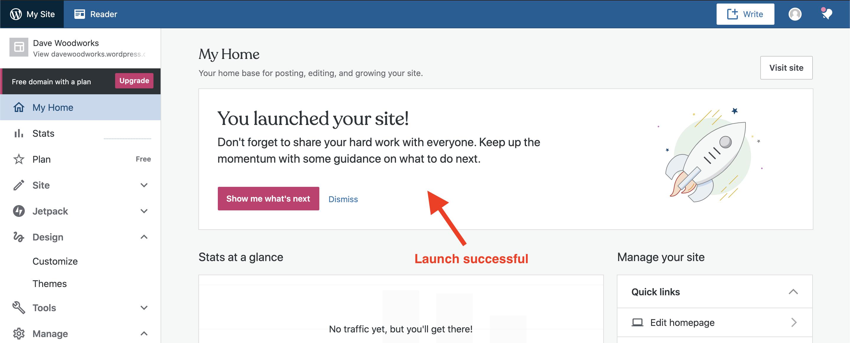 launching your wordpress website