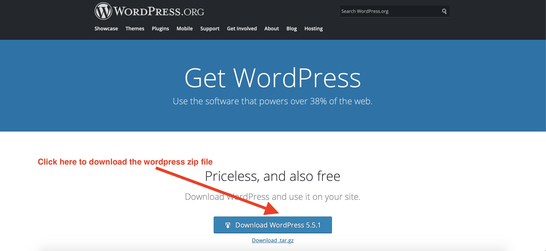 wordpress zip file