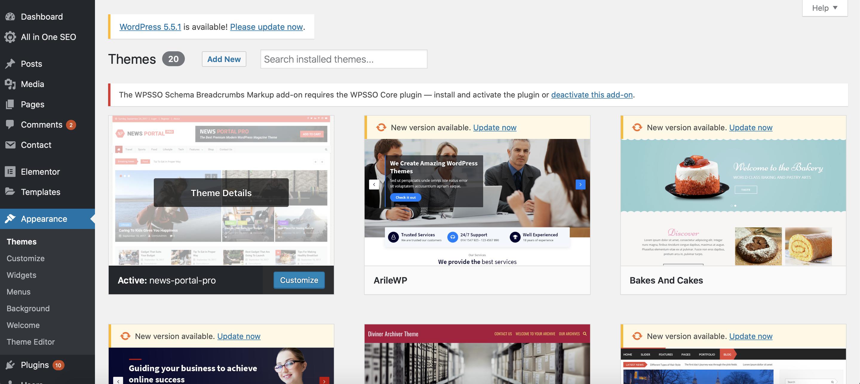 website theme customization