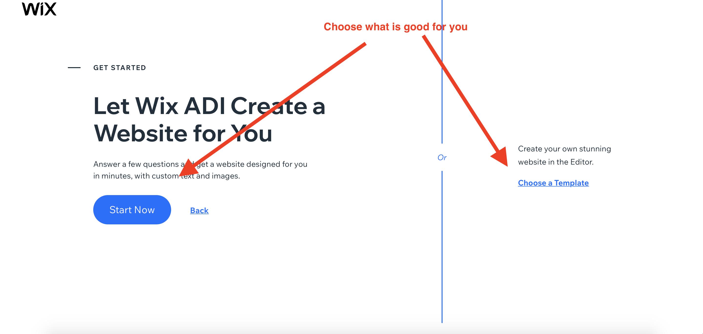 wix website building options