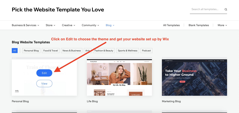 wix theme options