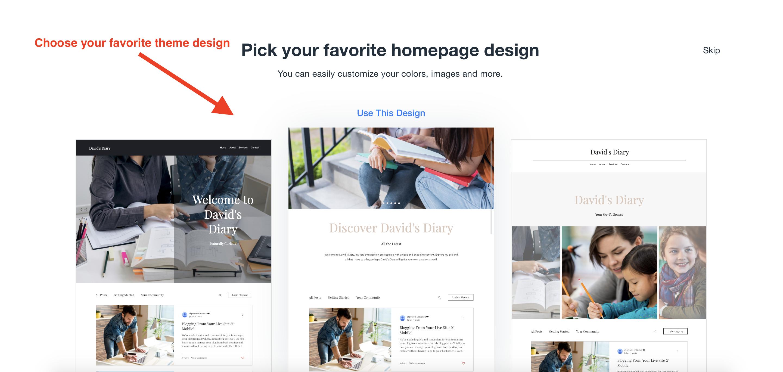 wix homepage designs
