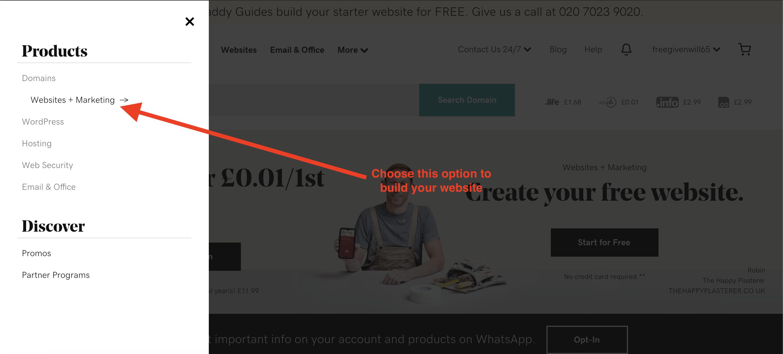 godaddy websites and marketing