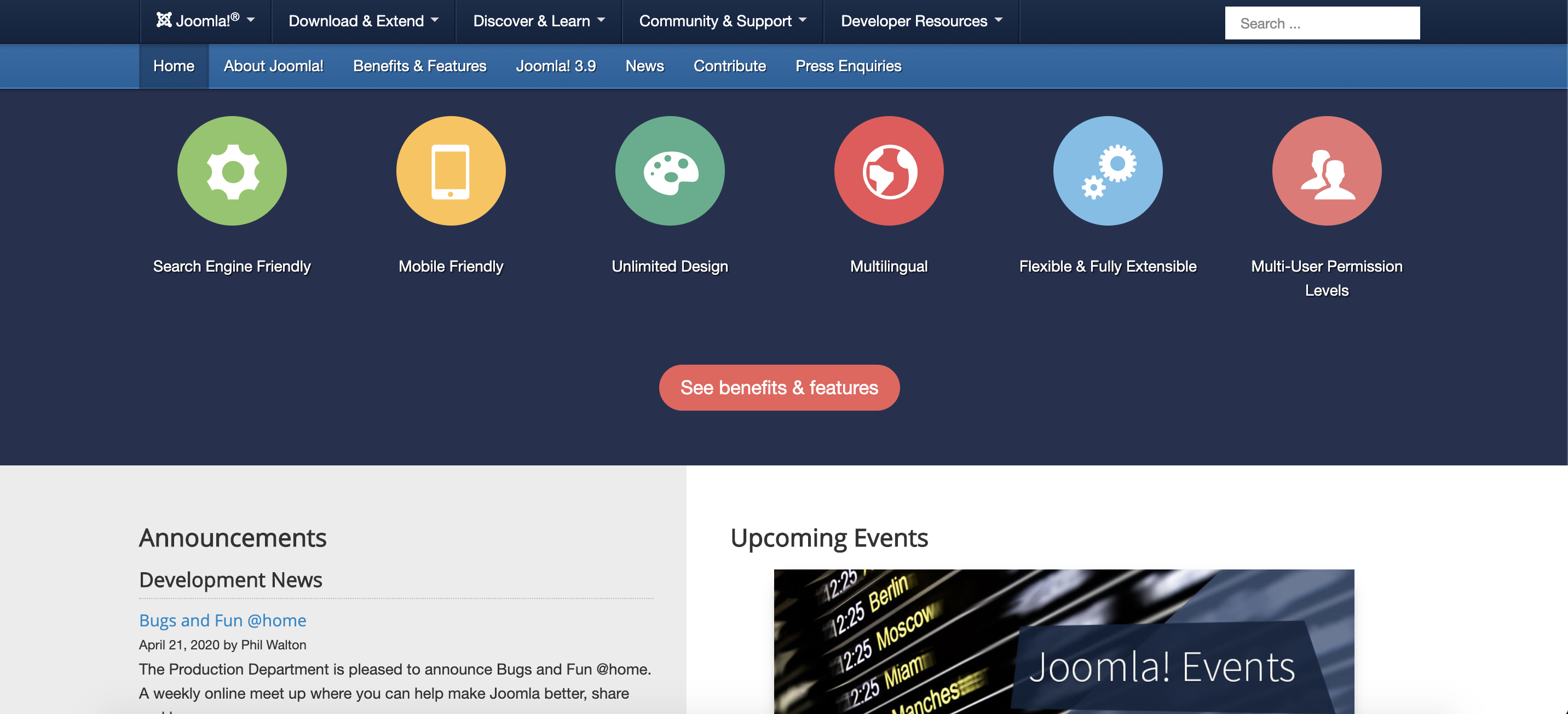 joomla content management system