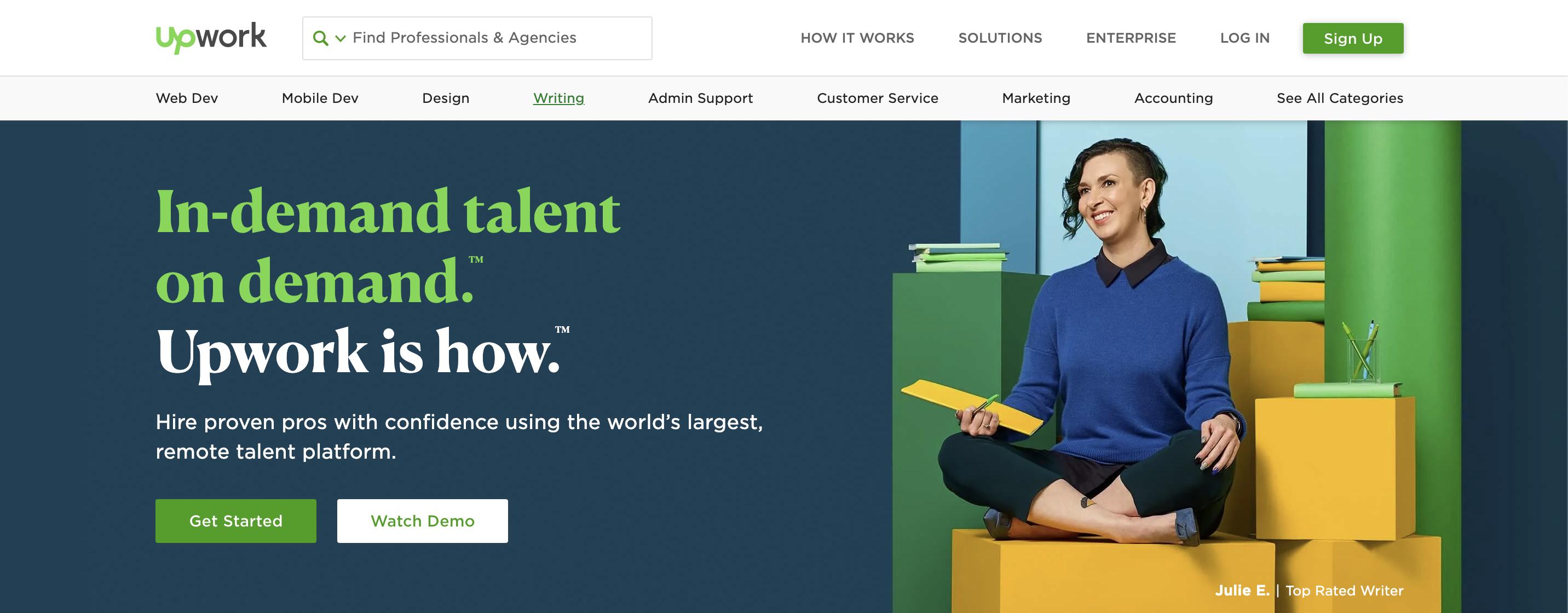 upwork freelance website