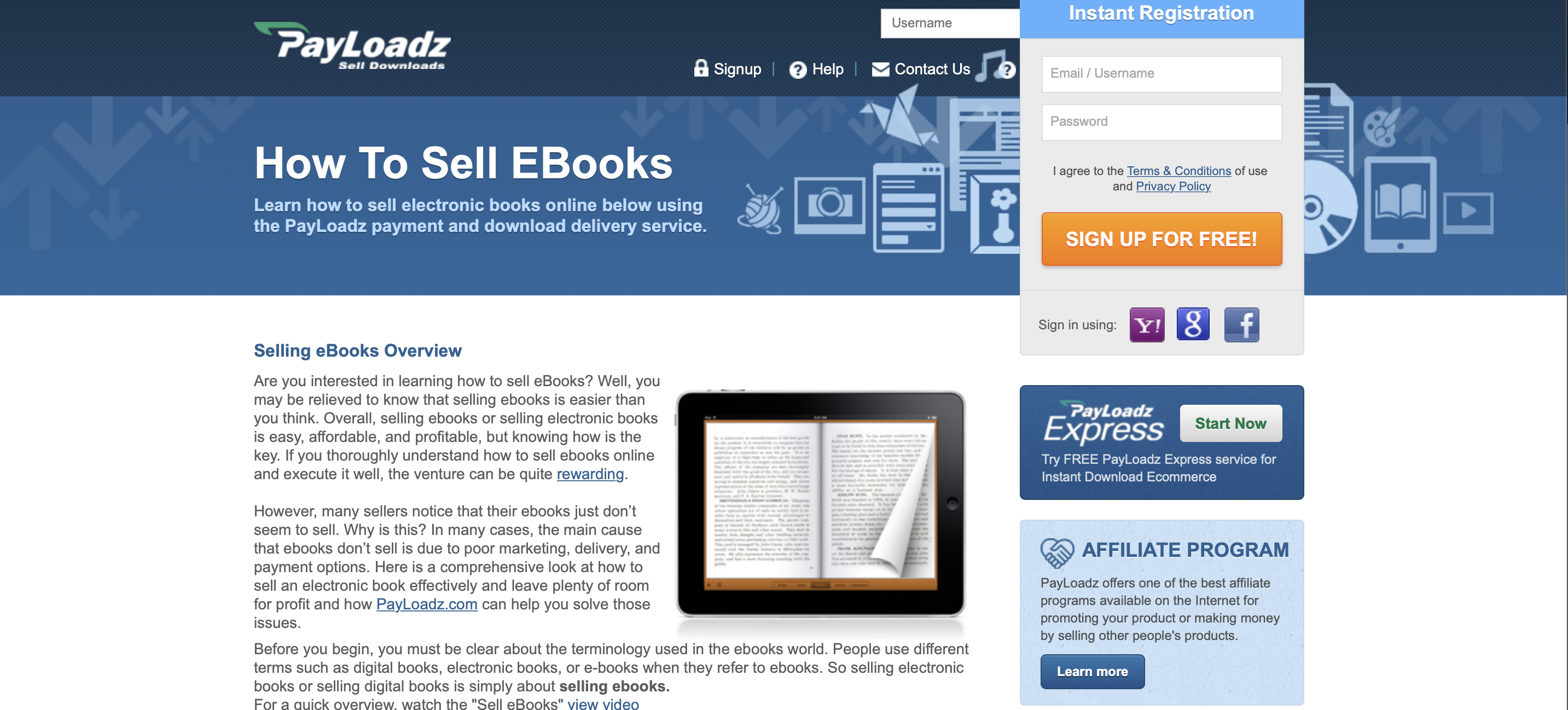 payloadz for ebooks
