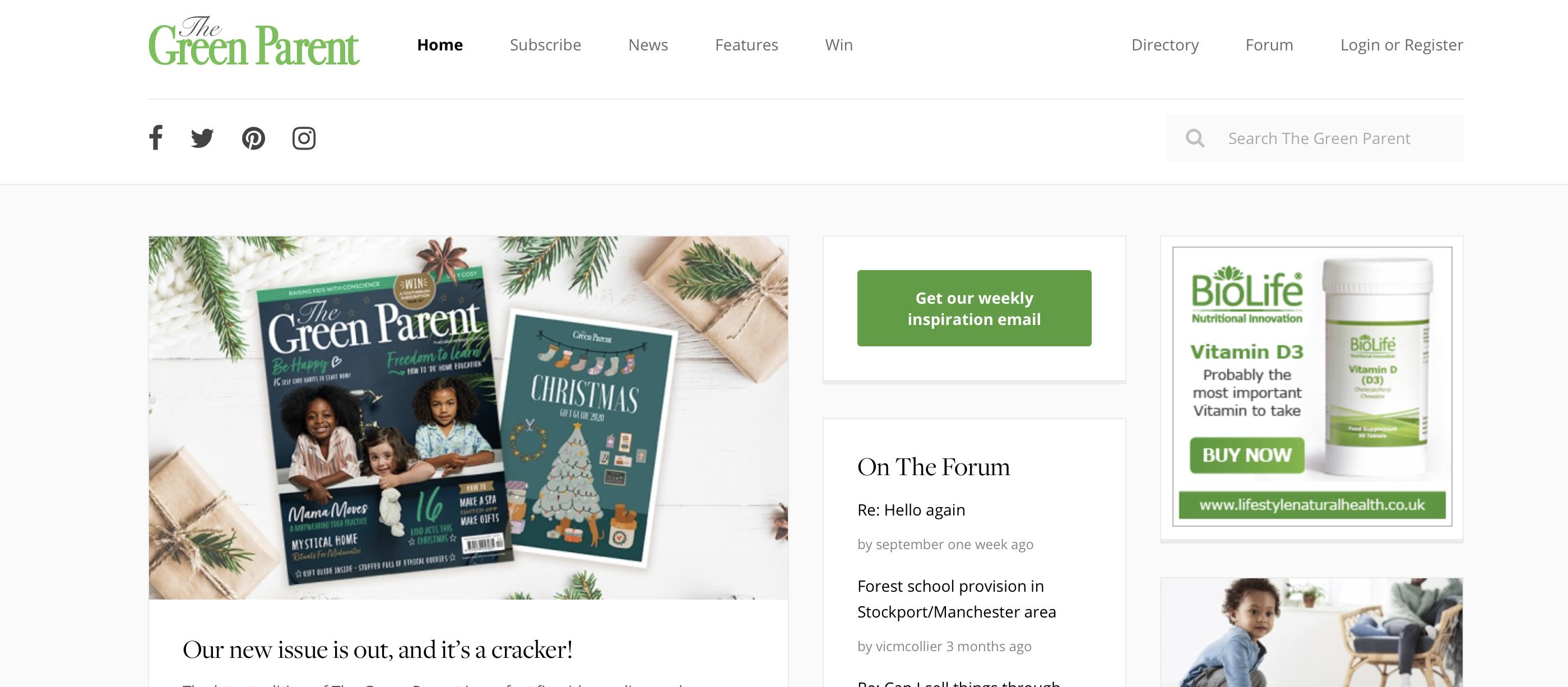 green parent website