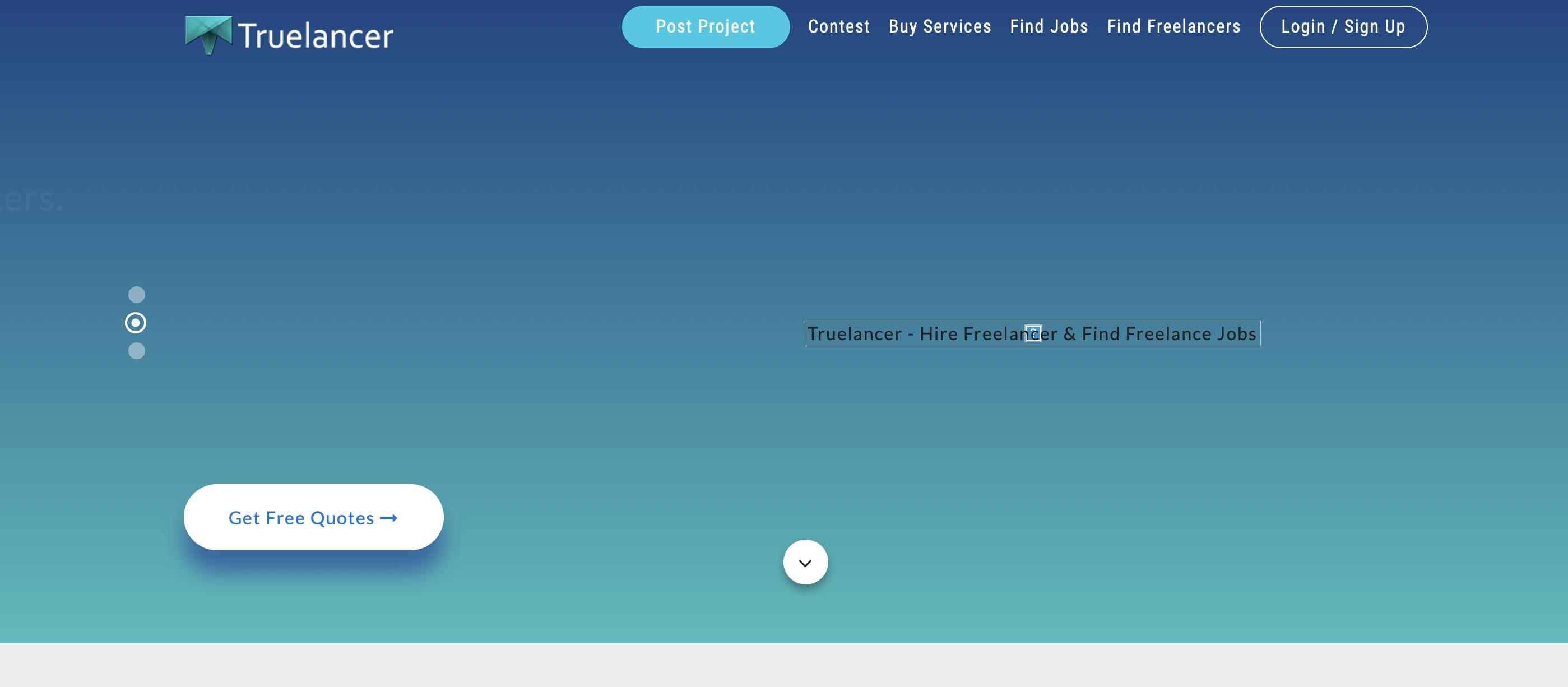 truelancer freelance website