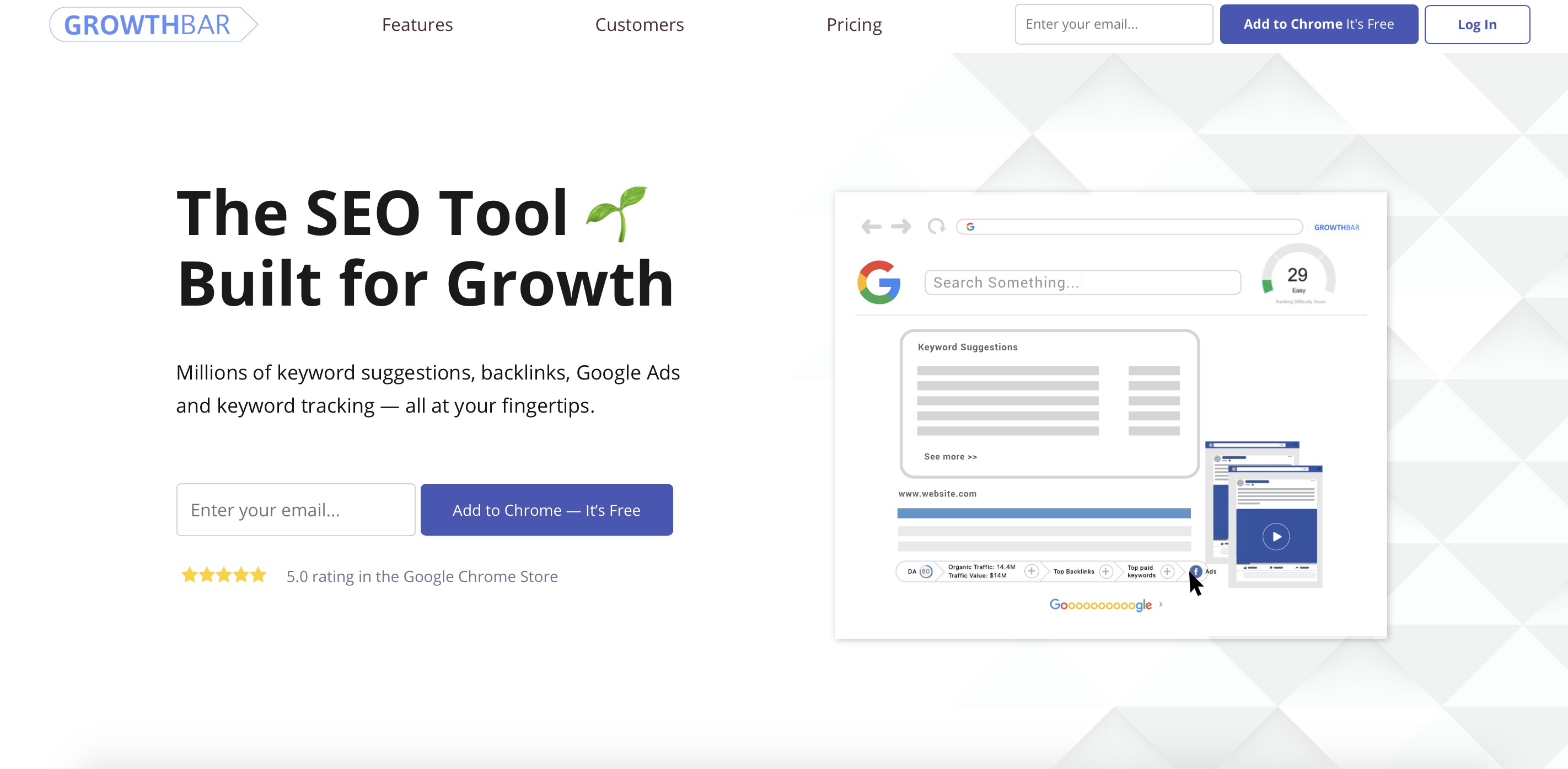 growthbar keyword tool