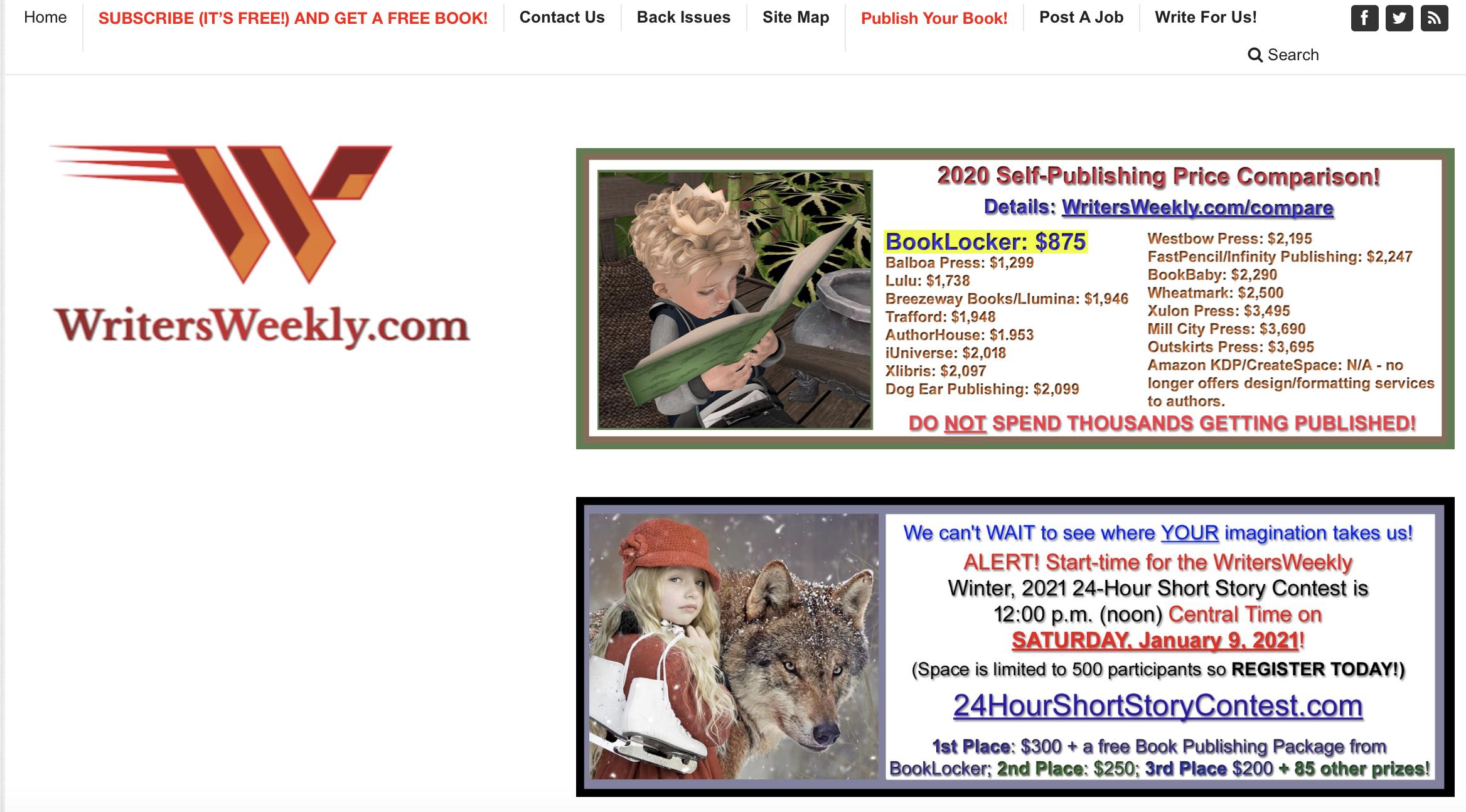 writers weekly website