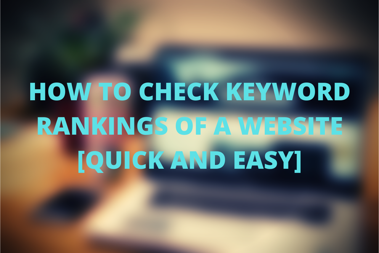 checking a website keyword rankings